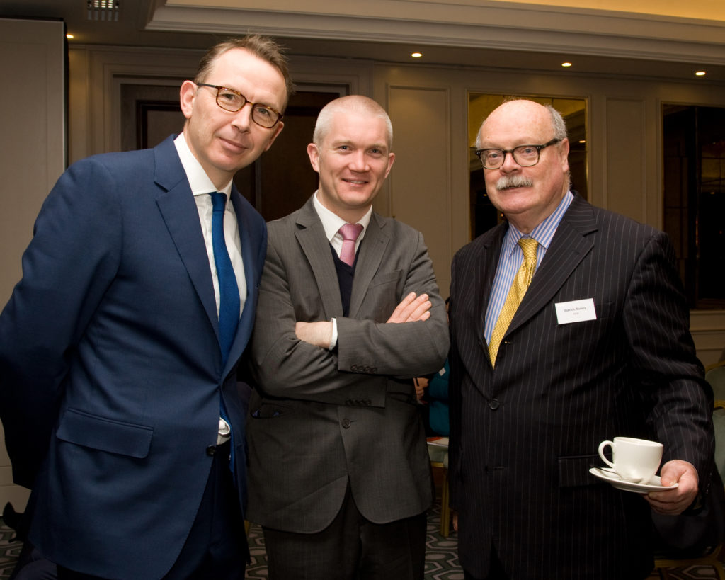 Mr John Higgins (Avolon), Mr Vincent Crimmins (Bank of Ireland) and Mr Pat Blaney (UCD)