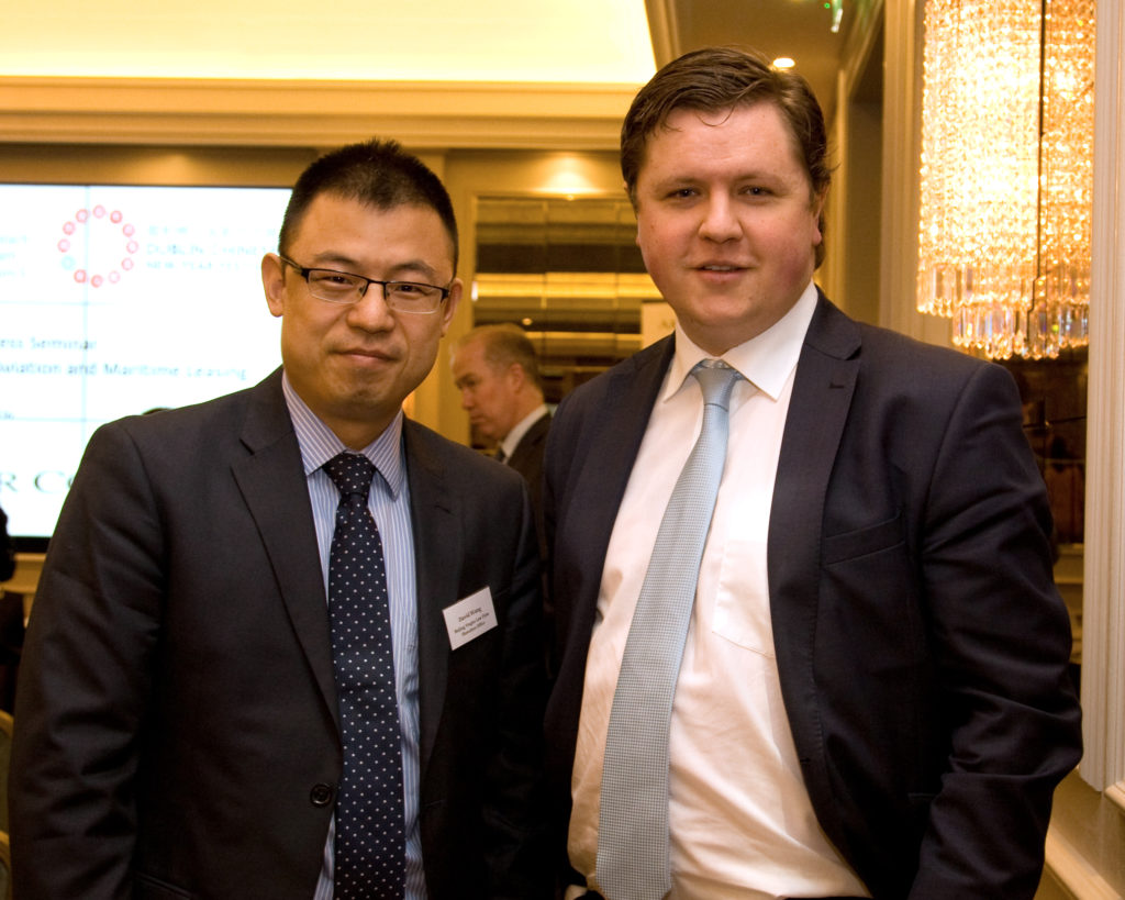 Mr David Wang (Beijing Yingke Law Firm) and Mr Eoin McDonnell (IDA)