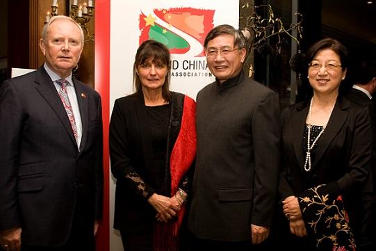 Mr Ken Duggan, Mrs Susan Barrett, H.E. Mr. Jianguo Xu and Madame Ni, wife of the Ambassador