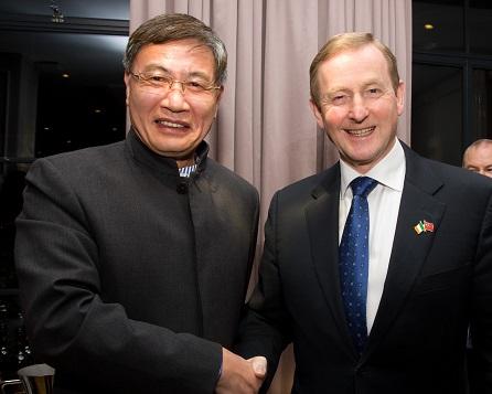 H.E. Mr Jiango Xu, Chinese Ambassador to Ireland with An Taoiseach, Mr Enda Kenny T.D.