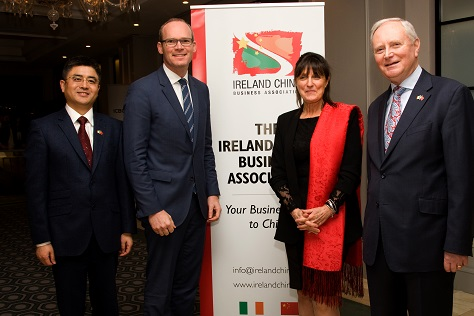 Wei Xu of ICBC, Minister for Agriculture, Food & Marine, Mr. Simon Coveney T.D.,